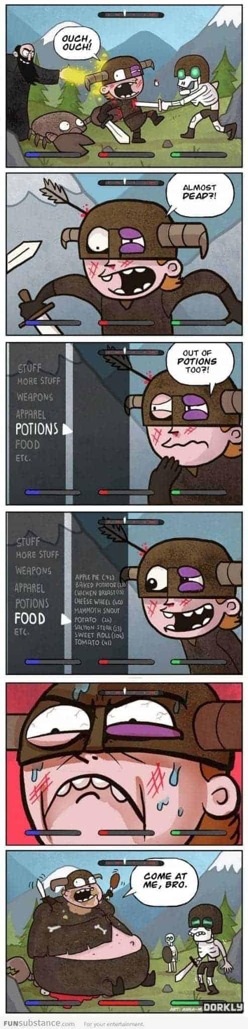 Video game Logic: Skyrim, Last Resort. Image Source:, Artist: Anna-Maria Jung