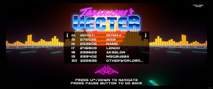 Vecter Game Leaderboard