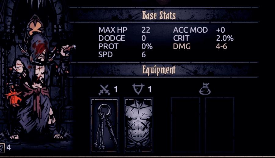 Flagellant Stats in Darkest Dungeon