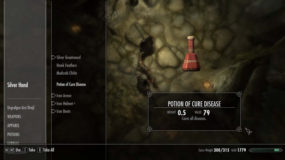 Potion of Cure Disease Skyrim