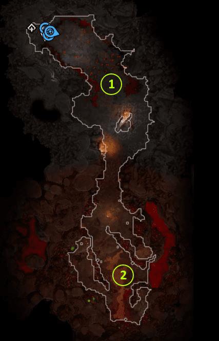 Fort Joy Radeka's Cave Numbered
