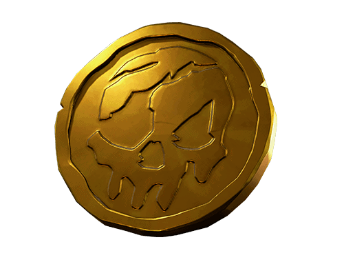 Gold coin in sea of thieves