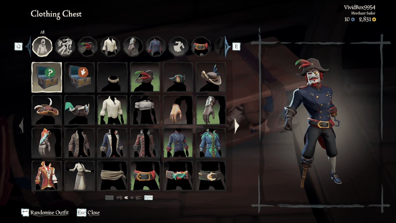 Sea of Thieves outfit pirate