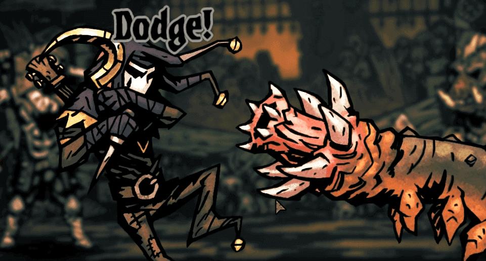 Darkest Dungeon Jester Dodges another attack