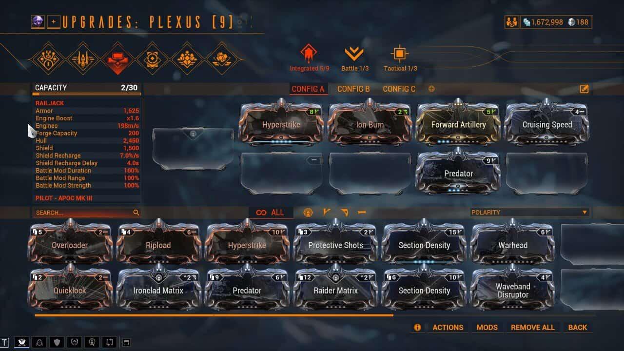 Plexus and Railjack Mods