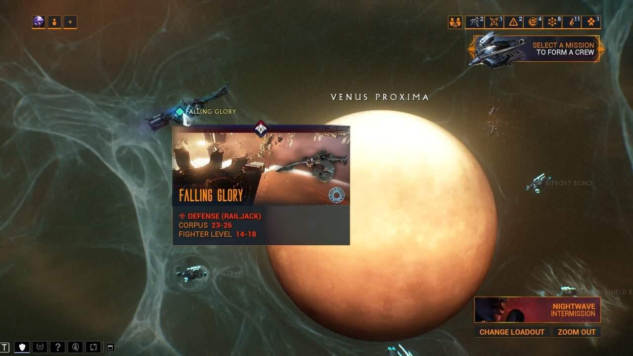 Prozima node on Venus